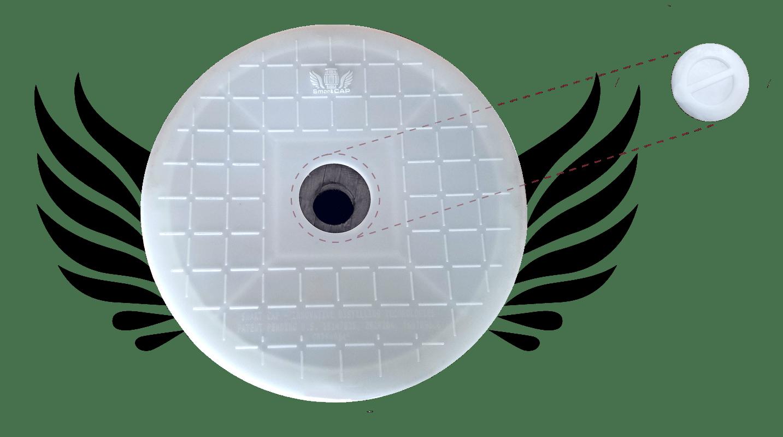 top view of smart cap lid